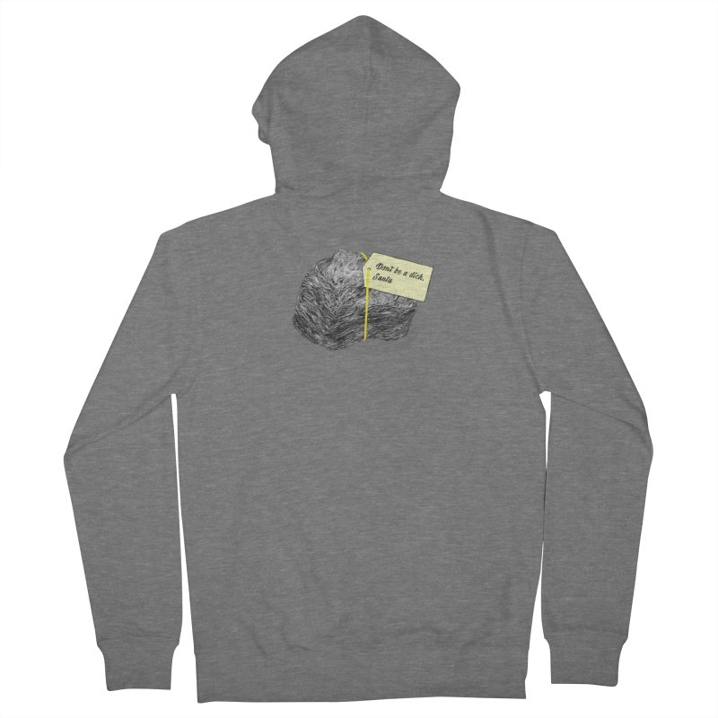 Don't Be A Dick Men's French Terry Zip-Up Hoody by Martina Scott's Shop