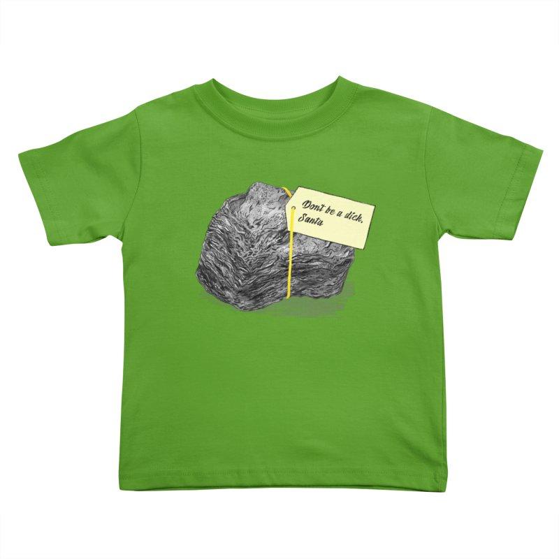 Don't Be A Dick Kids Toddler T-Shirt by Martina Scott's Shop