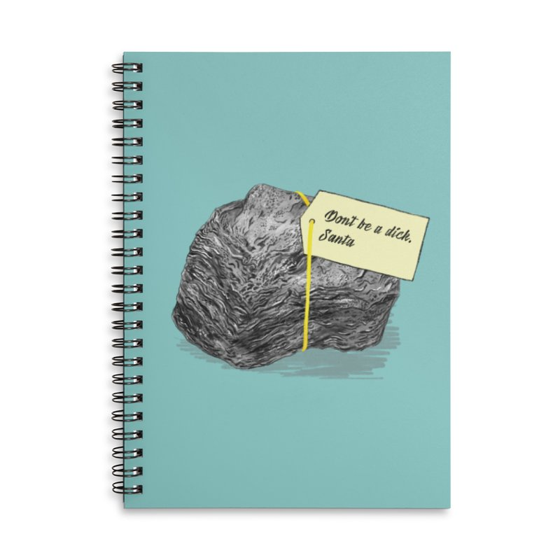 Don't Be A Dick Accessories Lined Spiral Notebook by Martina Scott's Shop