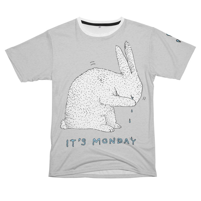Monday Tears Women's Unisex French Terry T-Shirt Cut & Sew by Martina Scott's Shop