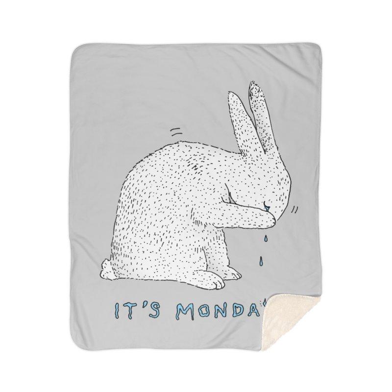 Monday Tears Home Sherpa Blanket Blanket by Martina Scott's Shop