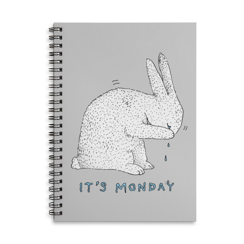 Monday Tears Accessories Lined Spiral Notebook by Martina Scott's Shop