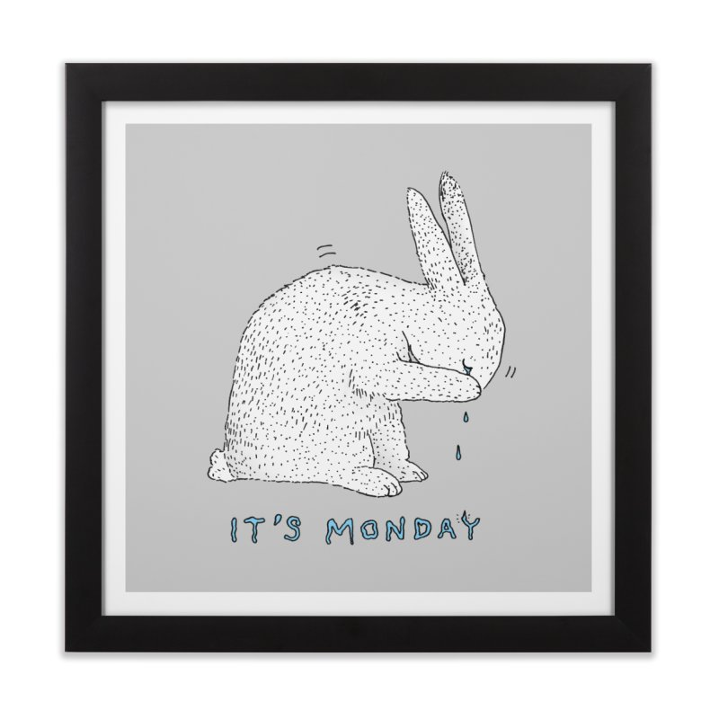 Monday Tears Home Framed Fine Art Print by Martina Scott's Shop