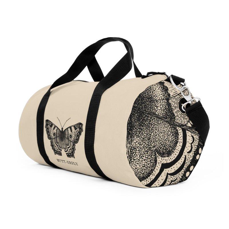 Butt-erfly Accessories Duffel Bag Bag by Martina Scott's Shop