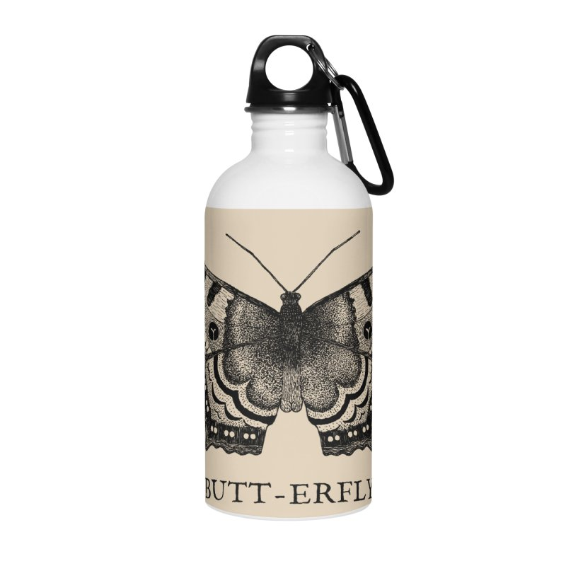 Butt-erfly Accessories Water Bottle by Martina Scott's Shop