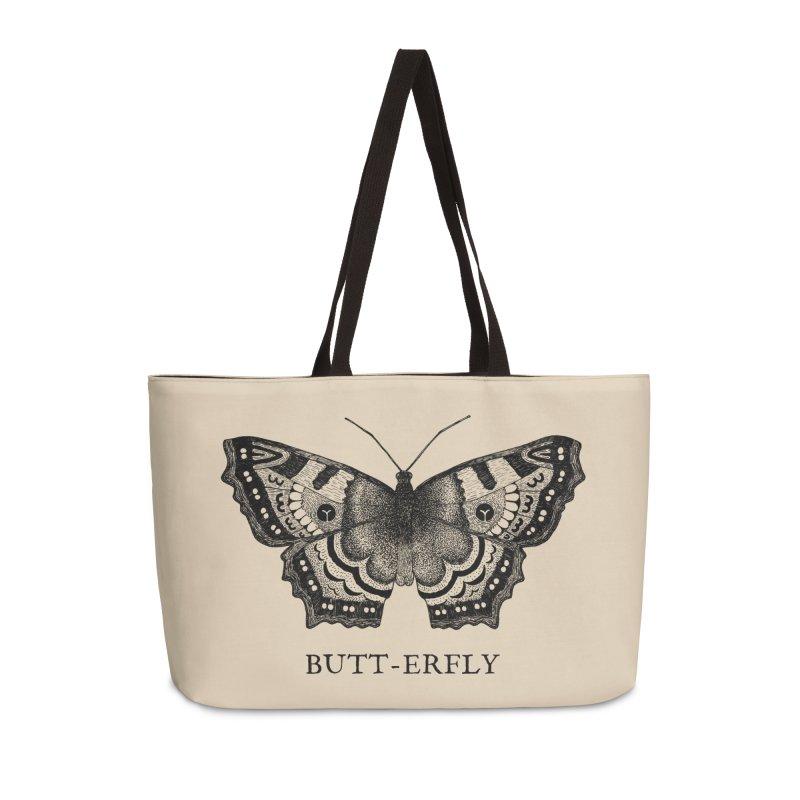 Butt-erfly Accessories Weekender Bag Bag by Martina Scott's Shop