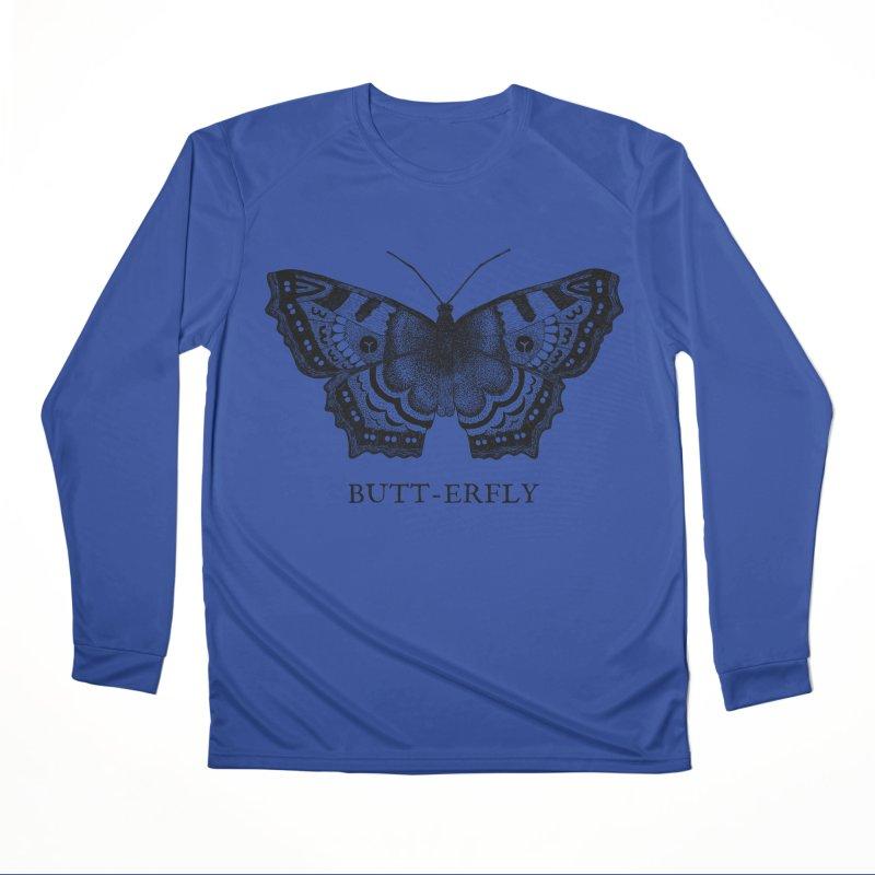 Butt-erfly Men's Performance Longsleeve T-Shirt by Martina Scott's Shop