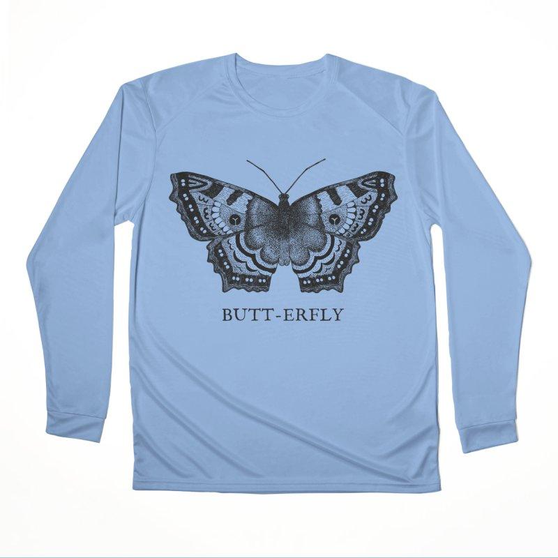 Butt-erfly Men's Longsleeve T-Shirt by Martina Scott's Shop