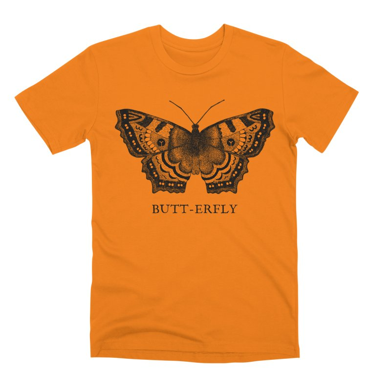 Butt-erfly Men's T-Shirt by Martina Scott's Shop