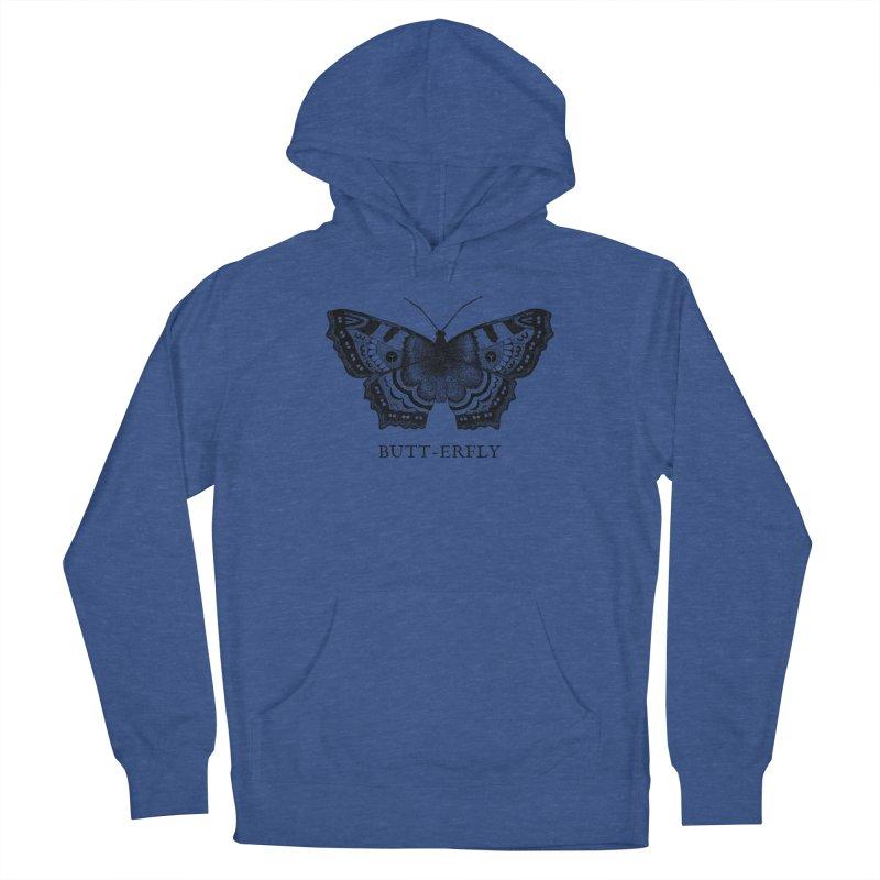 Butt-erfly Men's Pullover Hoody by Martina Scott's Shop