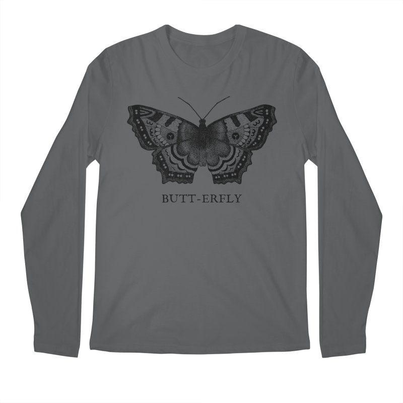 Butt-erfly Men's Longsleeve T-Shirt by Martina Scott's Shop