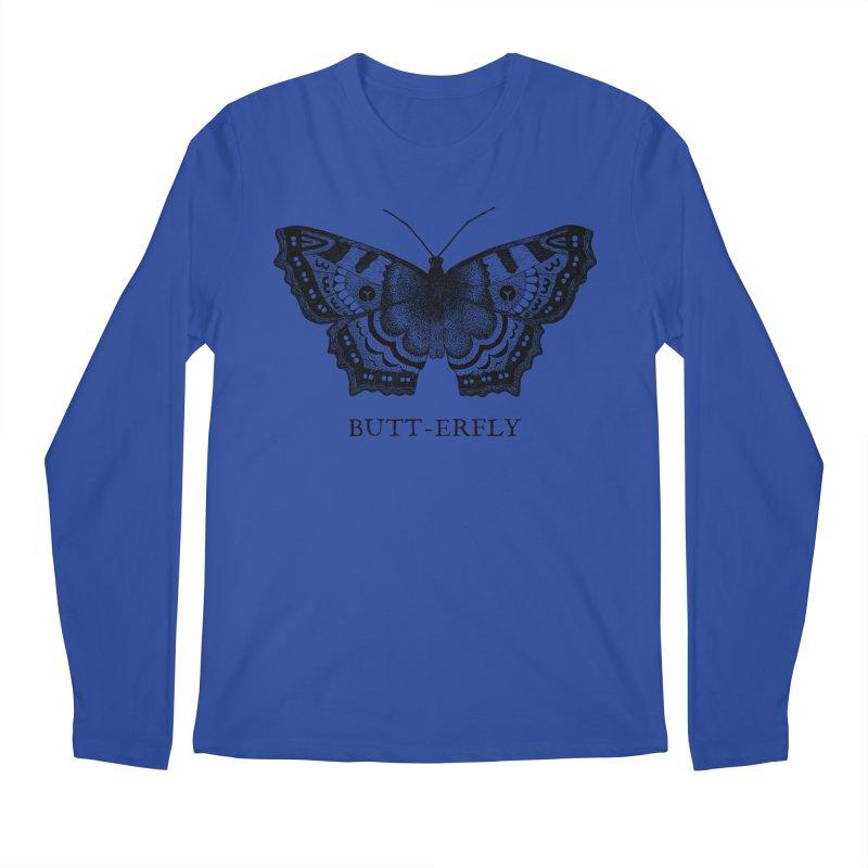 Butt-erfly Men's Regular Longsleeve T-Shirt by Martina Scott's Shop