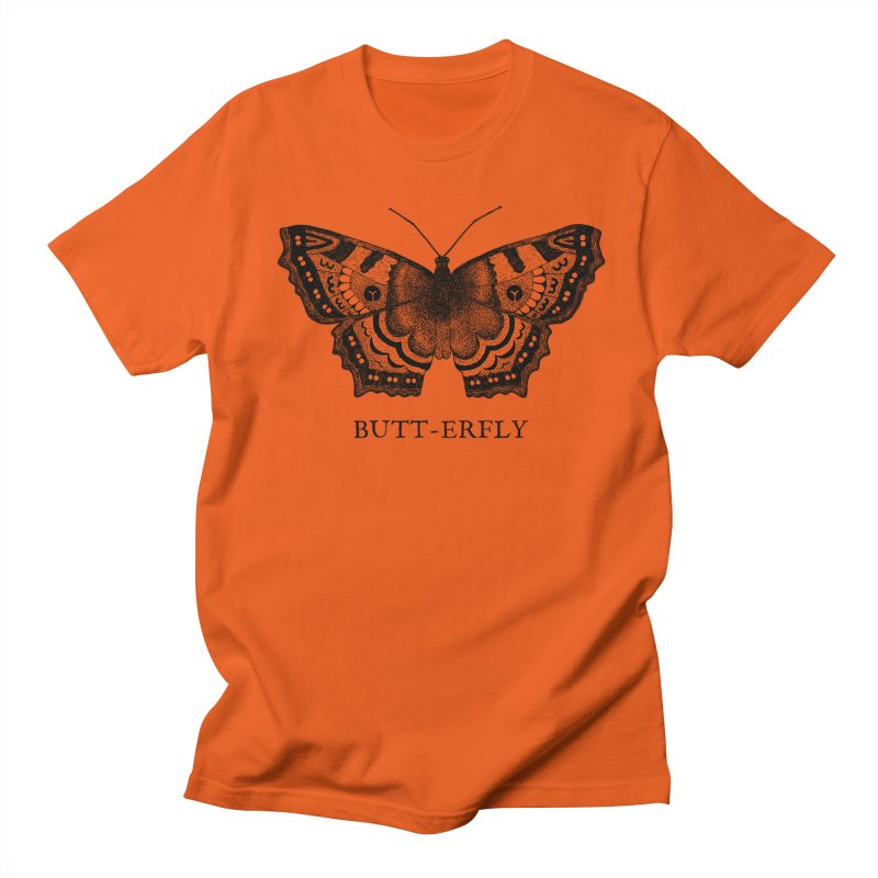 Butt-erfly Men's Regular T-Shirt by Martina Scott's Shop