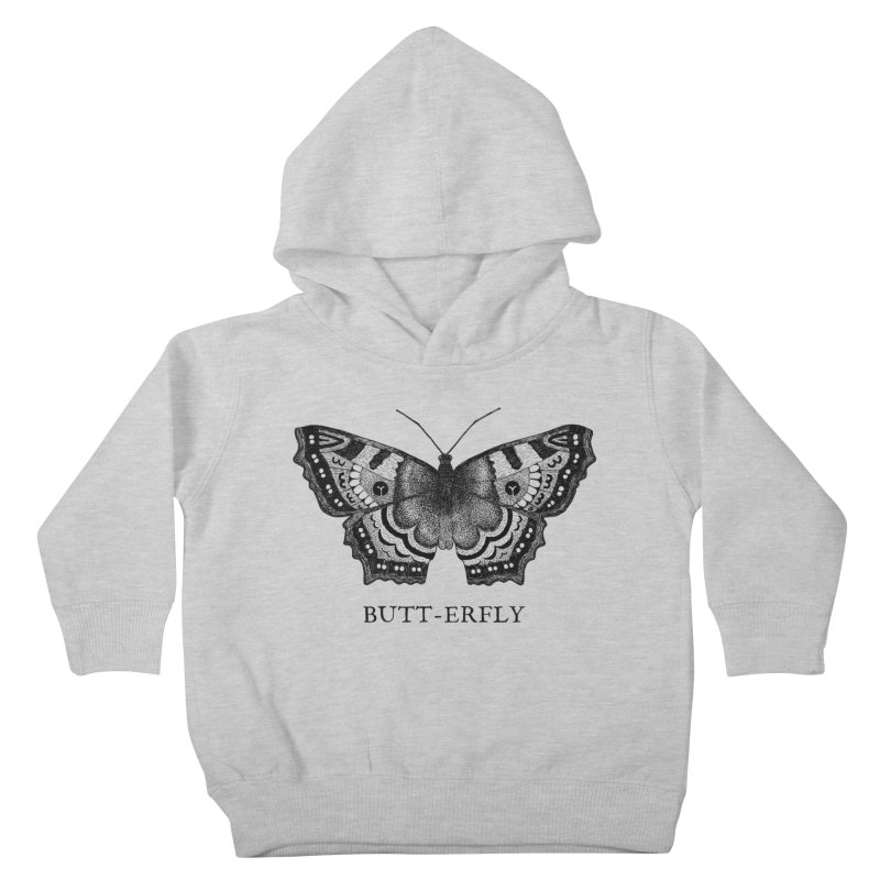 Butt-erfly Kids Toddler Pullover Hoody by Martina Scott's Shop