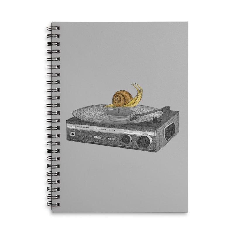 Slow Jamz Accessories Lined Spiral Notebook by Martina Scott's Shop