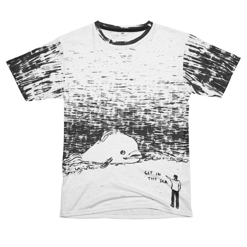 Get In The Sea Women's Unisex French Terry T-Shirt Cut & Sew by Martina Scott's Shop