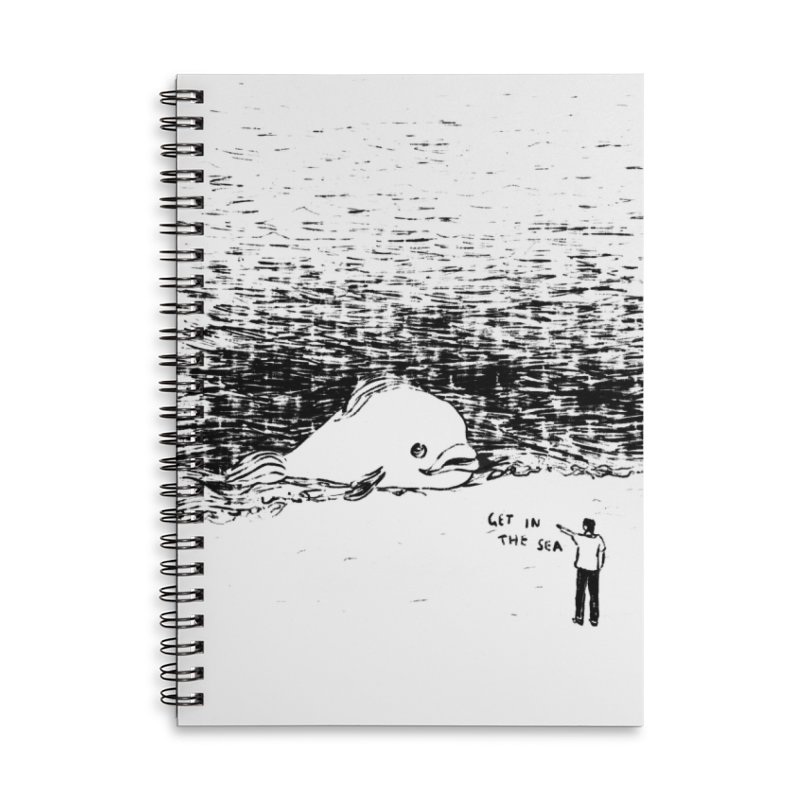 Get In The Sea Accessories Lined Spiral Notebook by Martina Scott's Shop