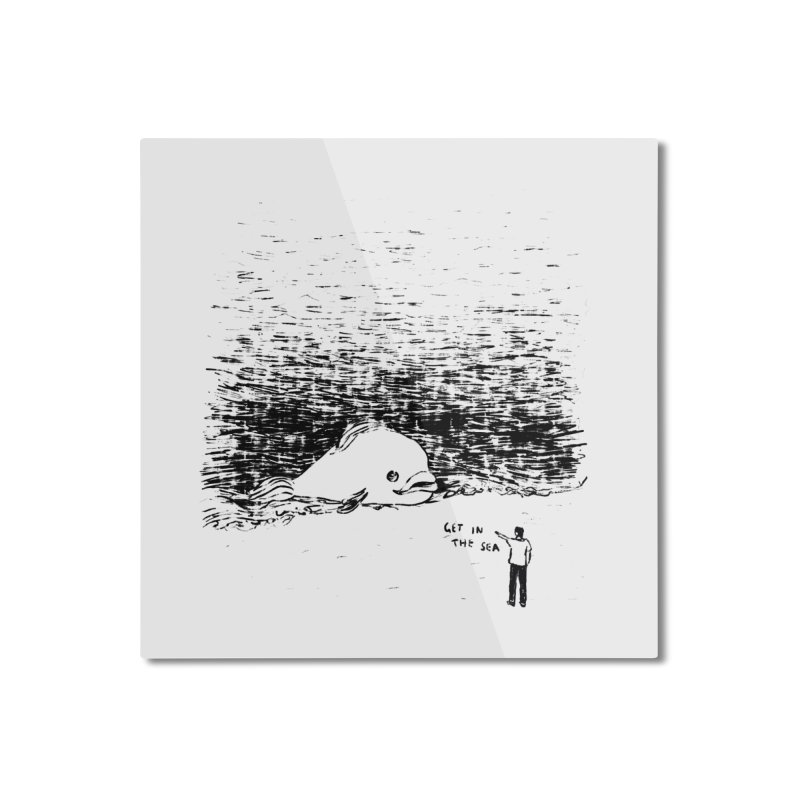 Get In The Sea Home Mounted Aluminum Print by Martina Scott's Shop