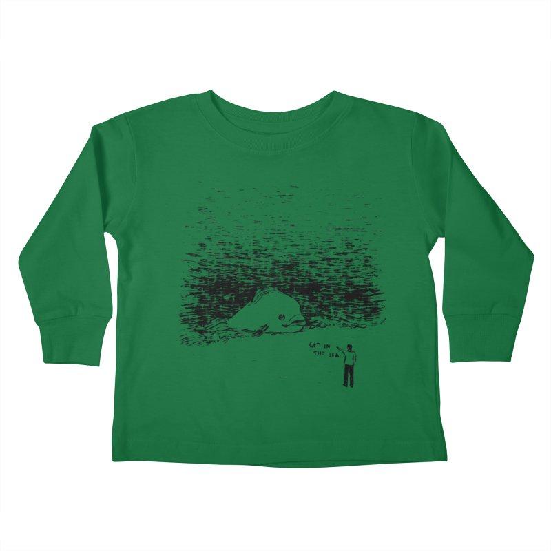 Get In The Sea Kids Toddler Longsleeve T-Shirt by Martina Scott's Shop