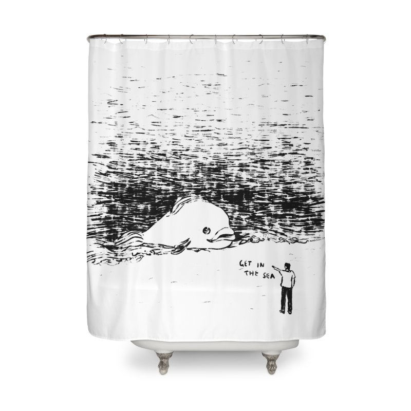 Get In The Sea Home Shower Curtain by Martina Scott's Shop
