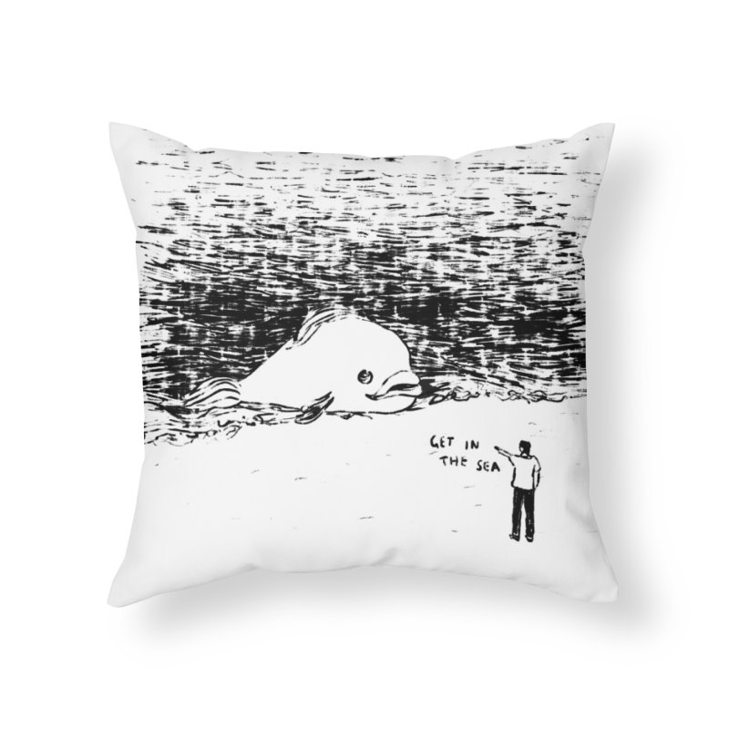 Get In The Sea Home Throw Pillow by Martina Scott's Shop