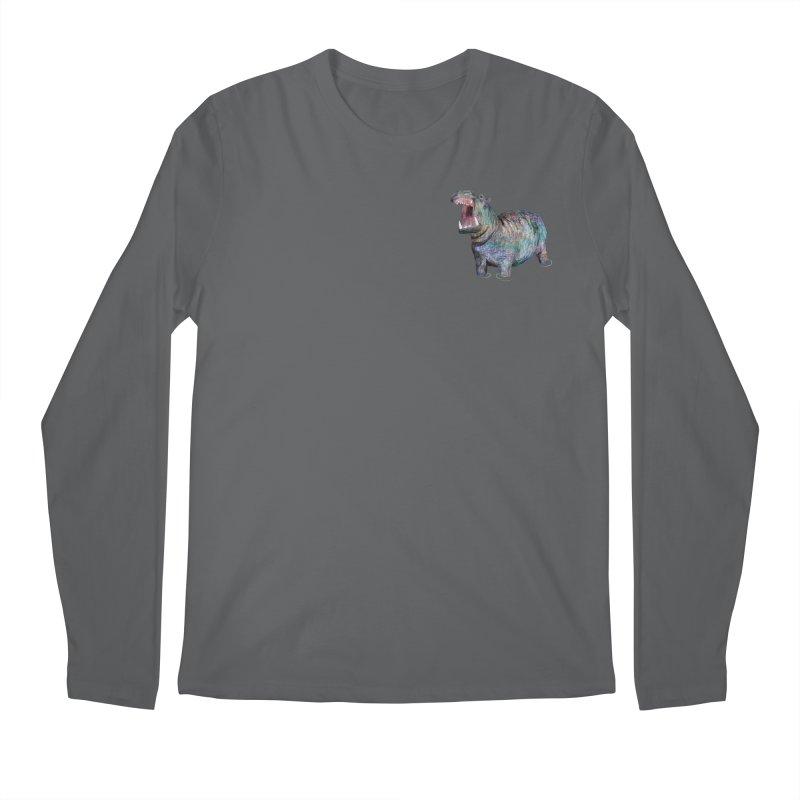 Hippo Men's Longsleeve T-Shirt by Martina Scott's Shop