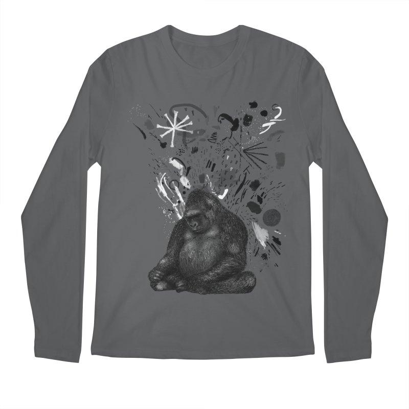 Moody Gorilla Men's Longsleeve T-Shirt by Martina Scott's Shop