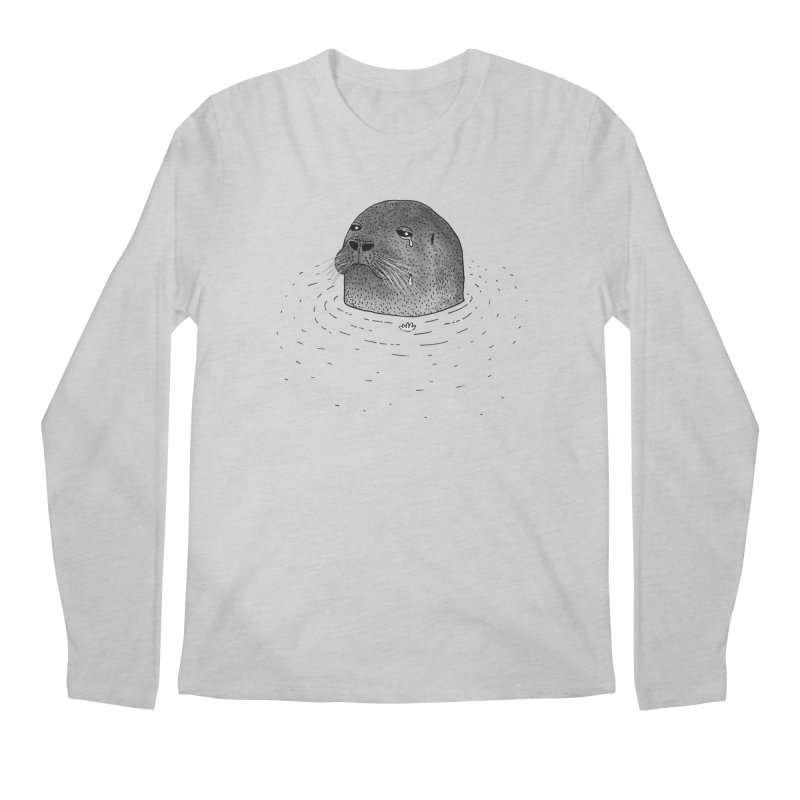 Sad Seal Men's Longsleeve T-Shirt by Martina Scott's Shop