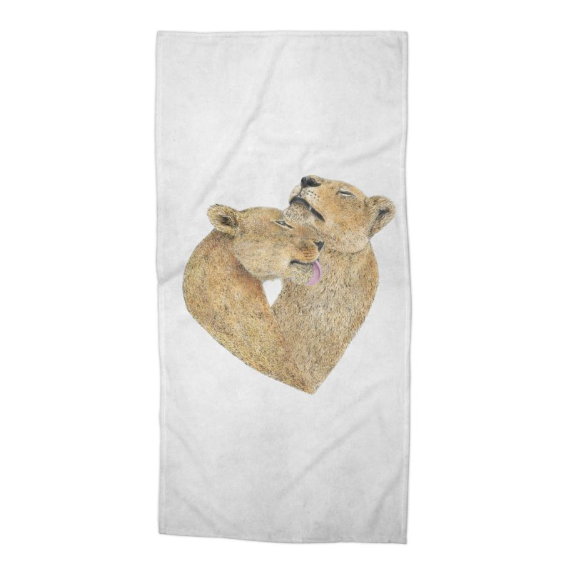 Lioness Lovers Accessories Beach Towel by Martina Scott's Shop