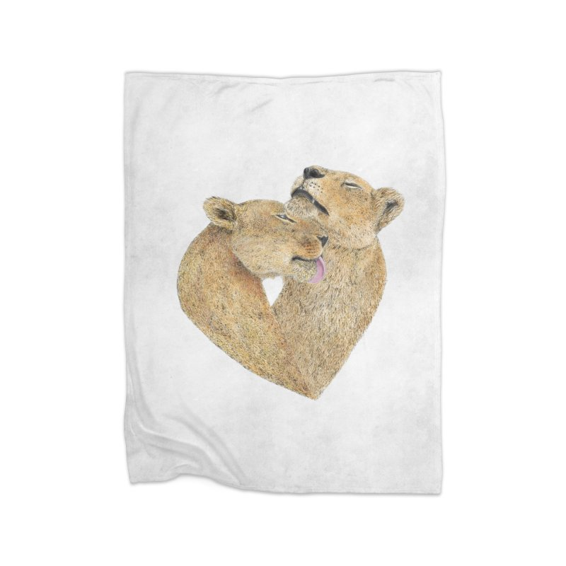 Lioness Lovers Home Blanket by Martina Scott's Shop