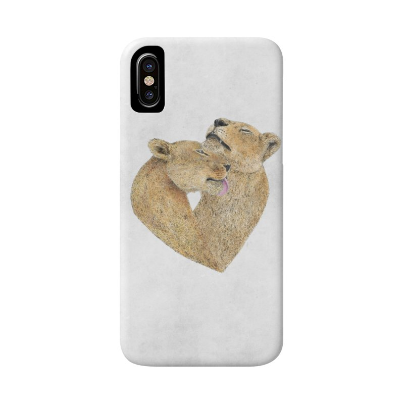 Lioness Lovers Accessories Phone Case by Martina Scott's Shop
