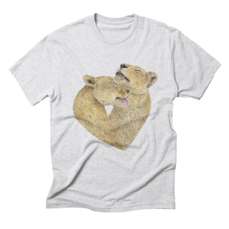 Lioness Lovers Men's Triblend T-shirt by Martina Scott's Shop