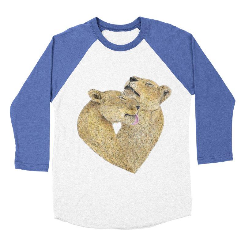 Lioness Lovers Men's Baseball Triblend T-Shirt by Martina Scott's Shop