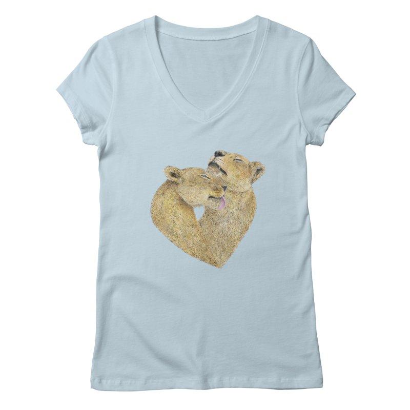 Lioness Lovers Women's V-Neck by Martina Scott's Shop