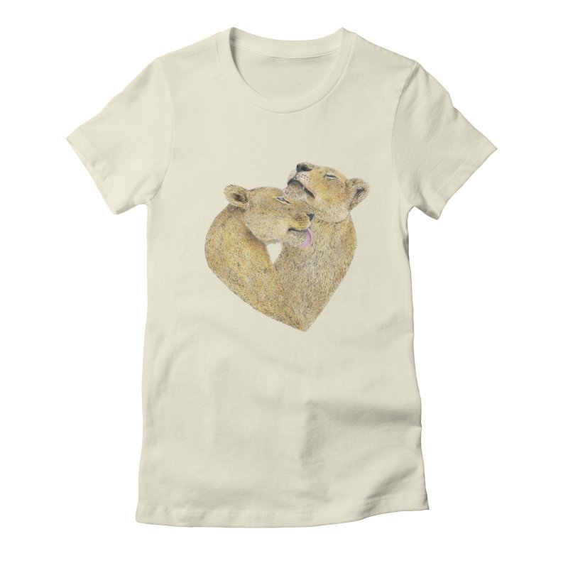 Lioness Lovers Women's Fitted T-Shirt by Martina Scott's Shop