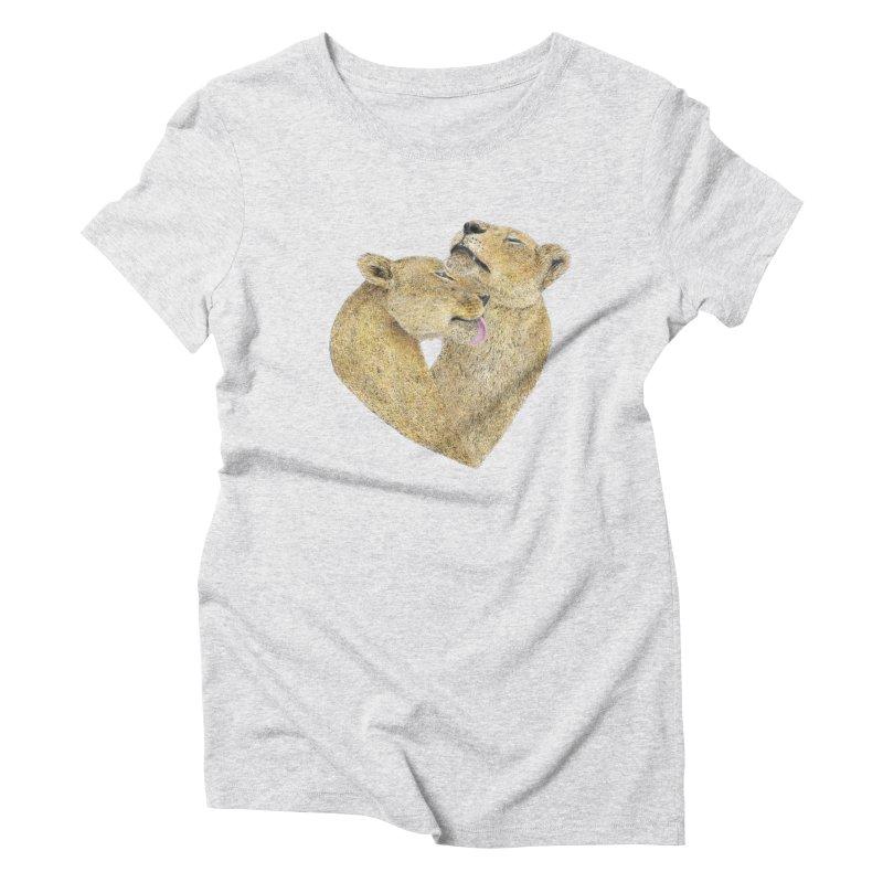 Lioness Lovers Women's Triblend T-shirt by Martina Scott's Shop