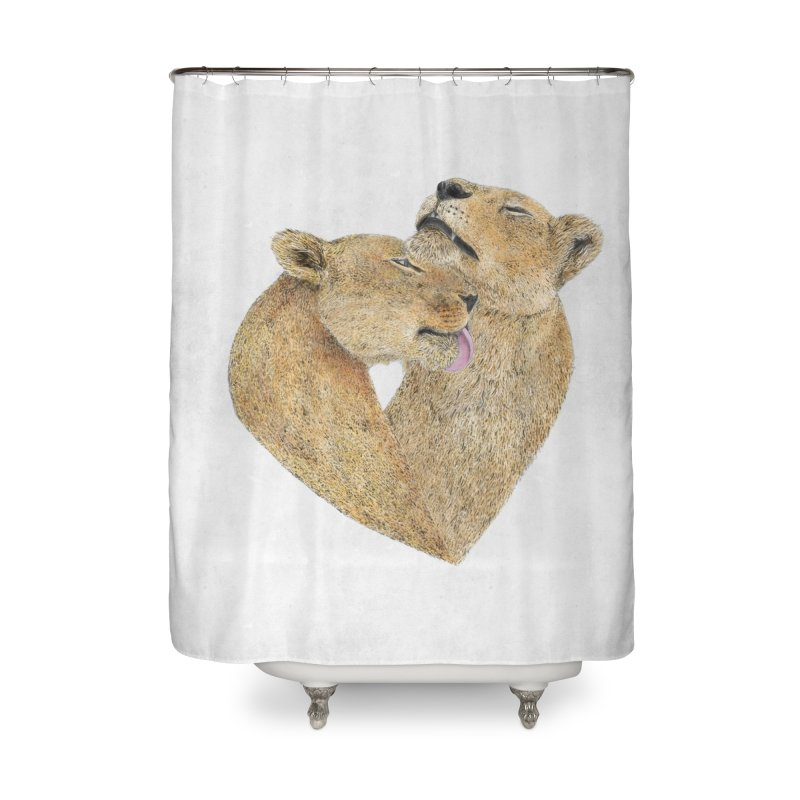Lioness Lovers Home Shower Curtain by Martina Scott's Shop