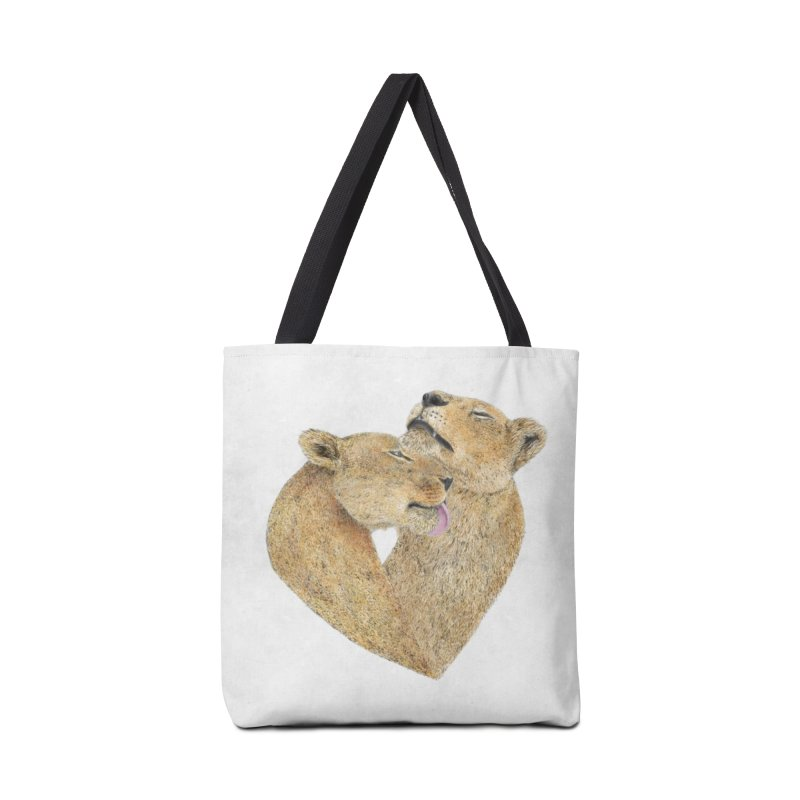 Lioness Lovers Accessories Bag by Martina Scott's Shop