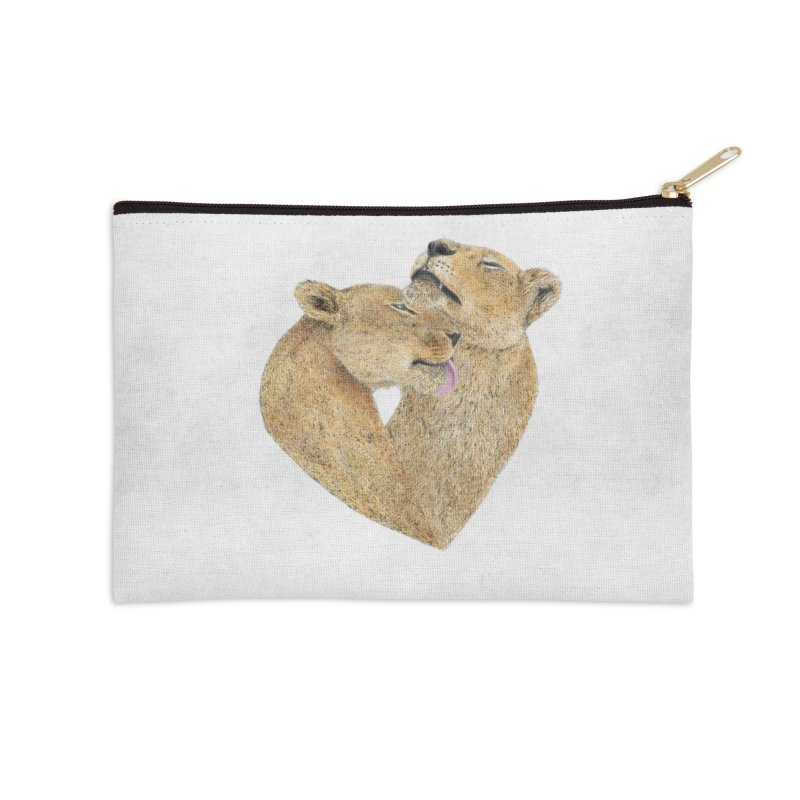 Lioness Lovers Accessories Zip Pouch by Martina Scott's Shop