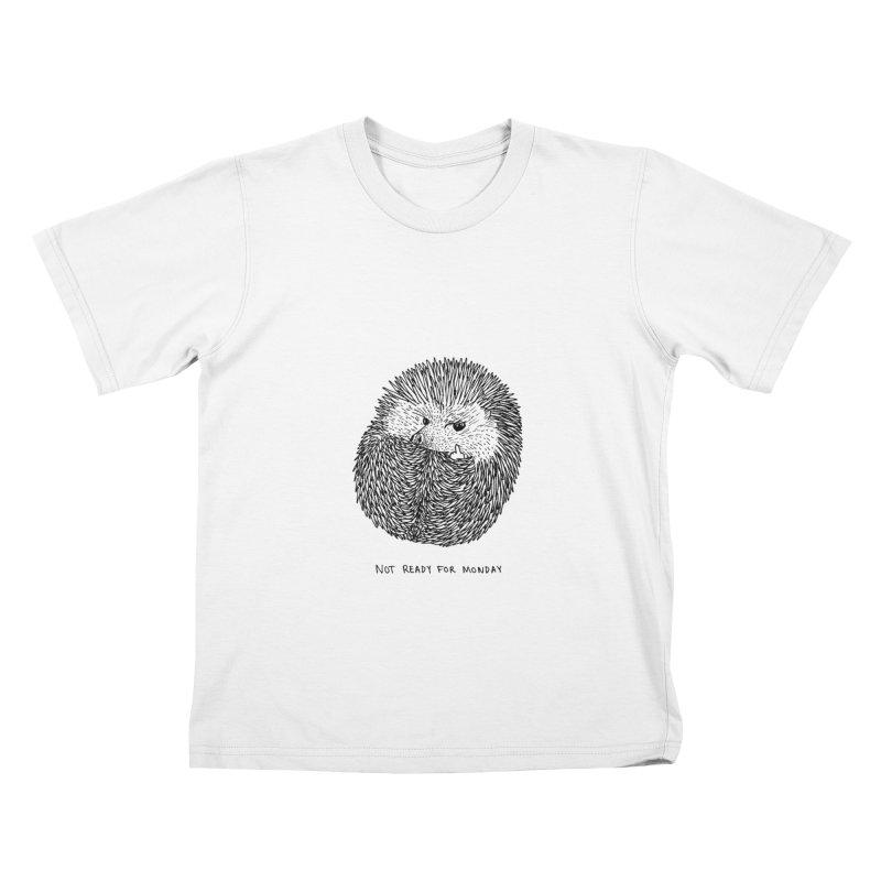 Not Ready For Monday Kids T-shirt by Martina Scott's Shop