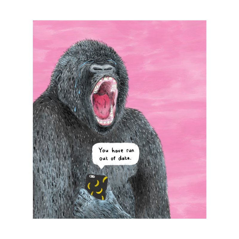No Data Gorilla Accessories Phone Case by Martina Scott's Shop