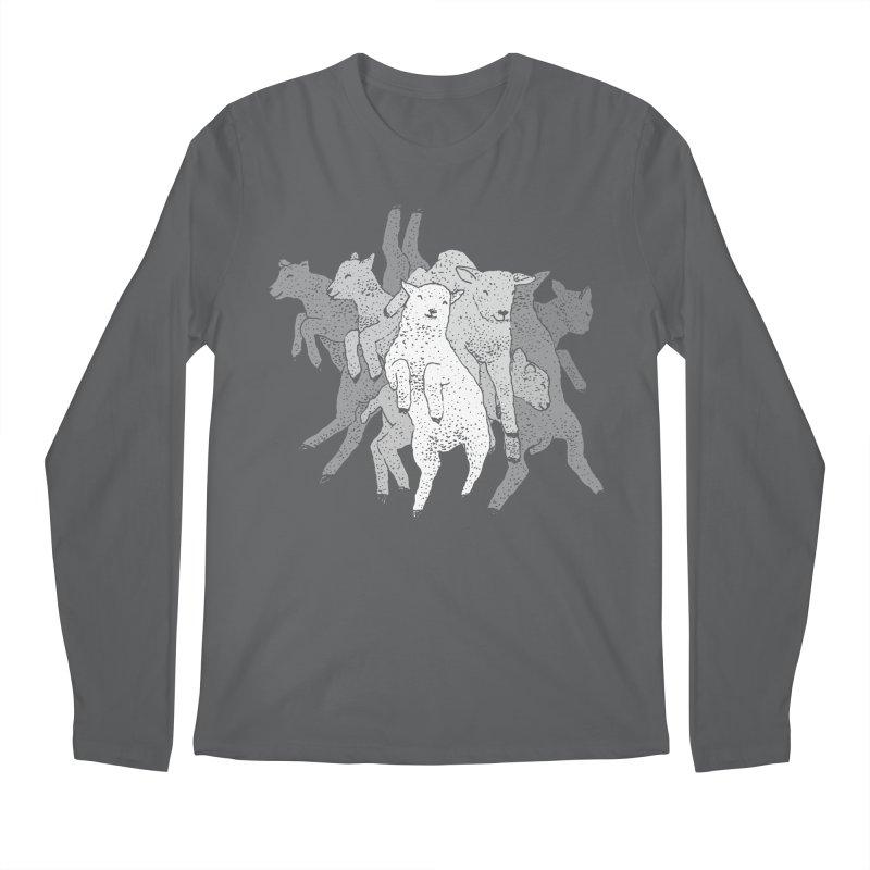 Lamb Dance Party Men's Longsleeve T-Shirt by Martina Scott's Shop