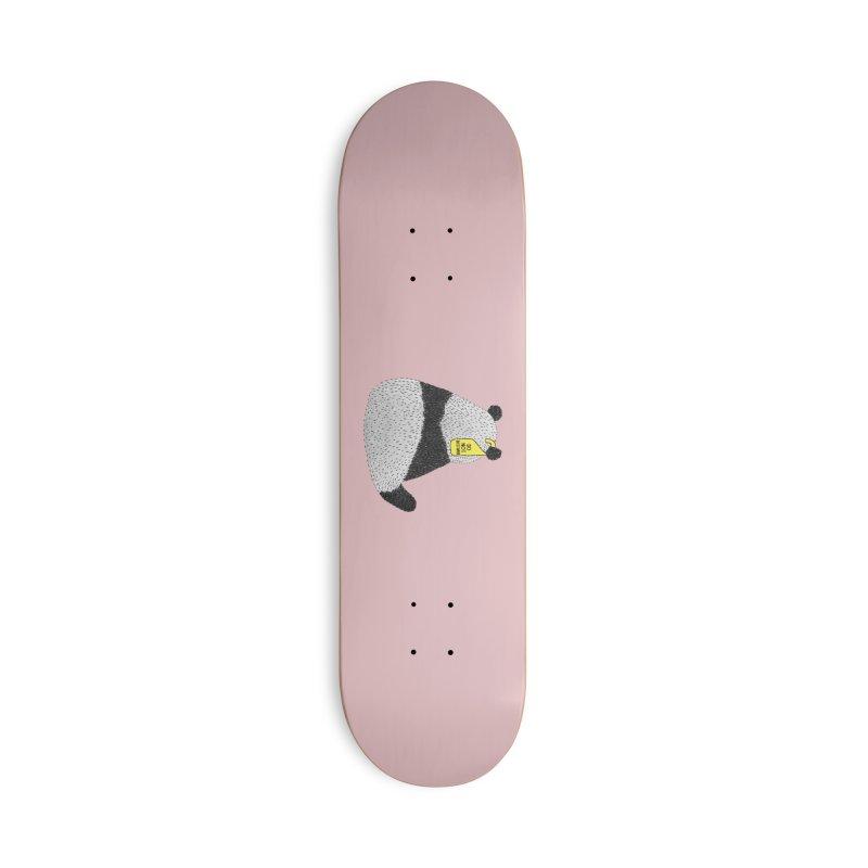 Lonely Panda Accessories Skateboard by Martina Scott's Shop