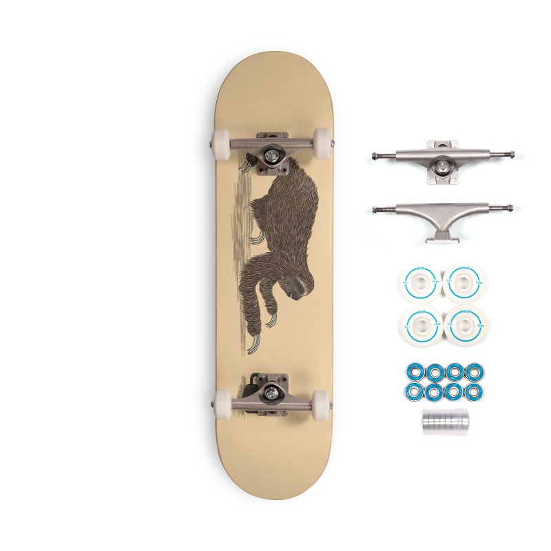 Crawl To The Coffee Accessories Skateboard by Martina Scott's Shop