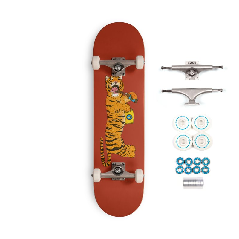 Living The Wild Life Accessories Skateboard by Martina Scott's Shop