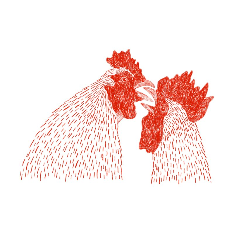 Gay Cockerels None  by Martina Scott's Shop