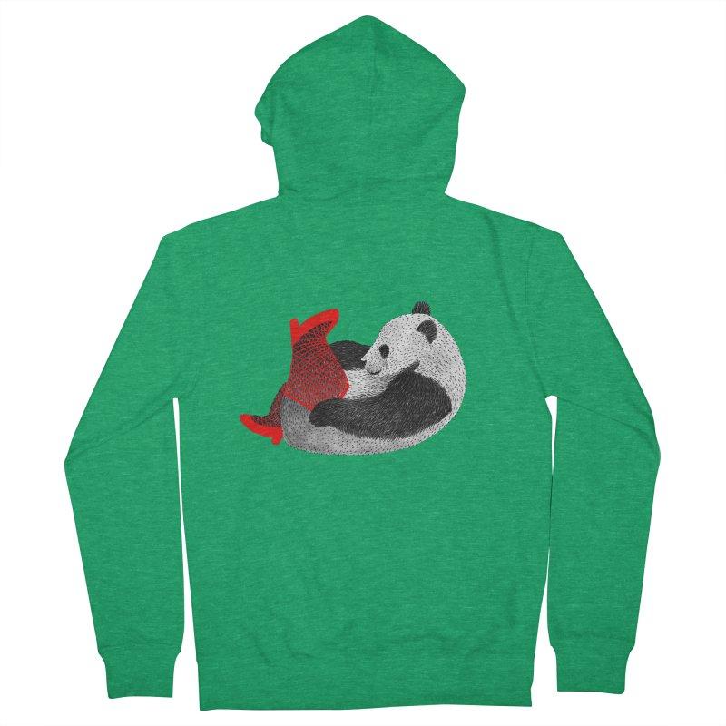 Party Panda Men's Zip-Up Hoody by Martina Scott's Shop