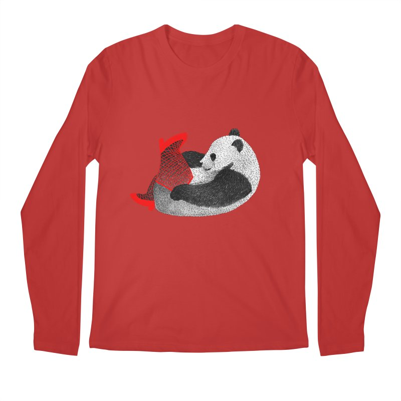 Party Panda Men's Longsleeve T-Shirt by Martina Scott's Shop