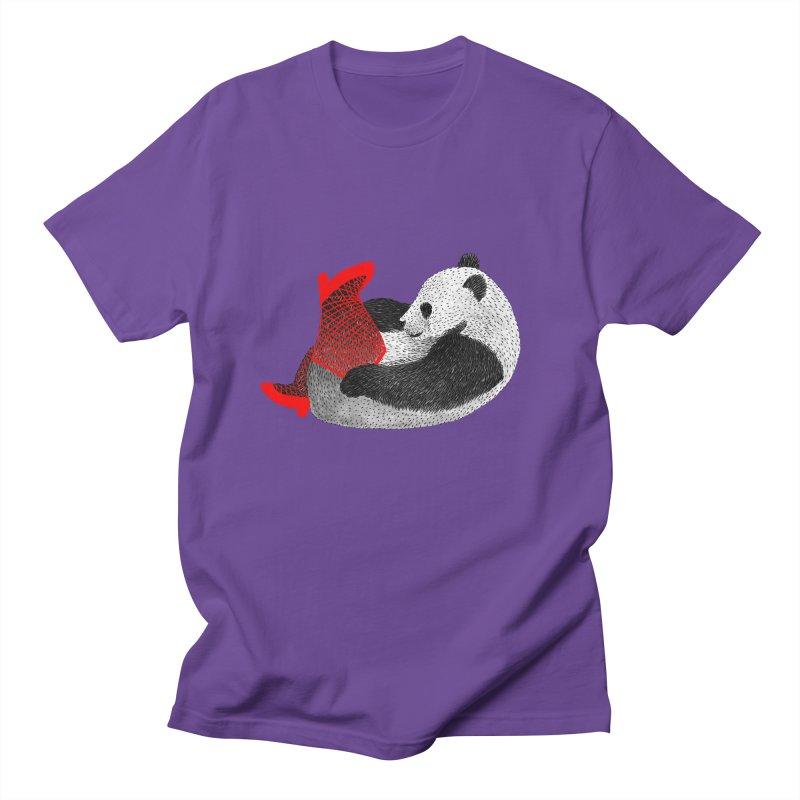 Party Panda Men's T-Shirt by Martina Scott's Shop