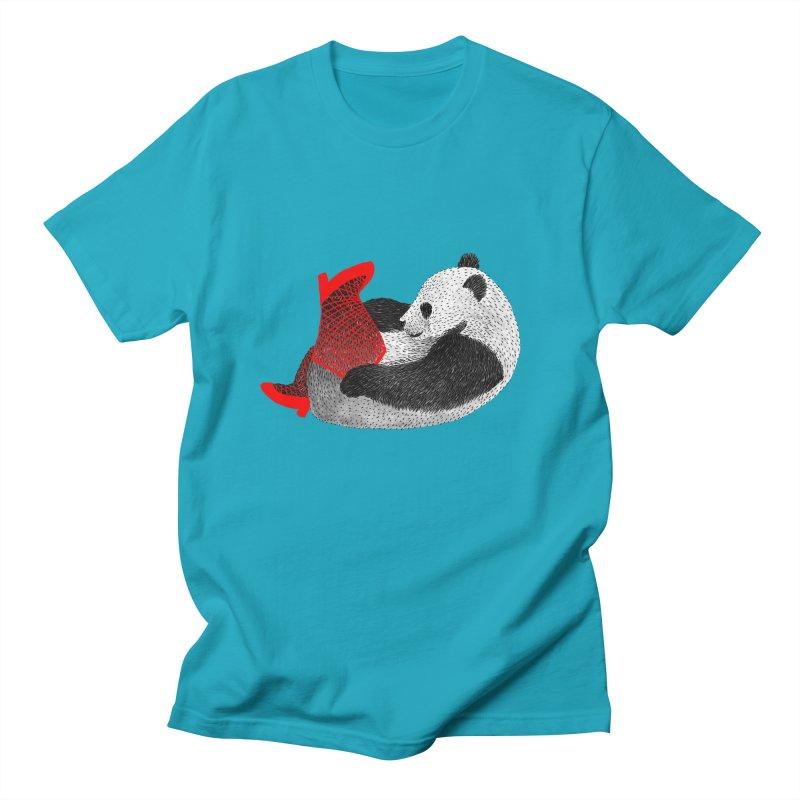Party Panda Women's Unisex T-Shirt by Martina Scott's Shop